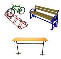 Лавки, скамейки, велопарковки