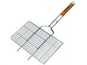 Решетка-гриль KAM-tools 370*270 мм с ножками хром