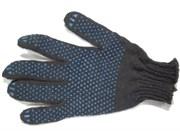 Перчатки трикотажные х/б ПВХ чёрные