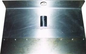 Движок дюраль 500*375 однобортовый с накладкой 120 мм
