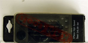 Набор сверел по металлу  5 шт(1,5 - 5 мм)