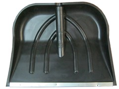 Лопата пластик с черенком 450х380 с оцинкованной накладкой